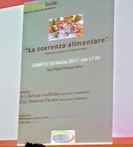 Seminar sull'Alimentazione 18 Marzo 2017