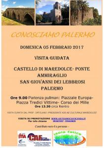 Visita al Castello di Maredolce 5 Febbraio 2017